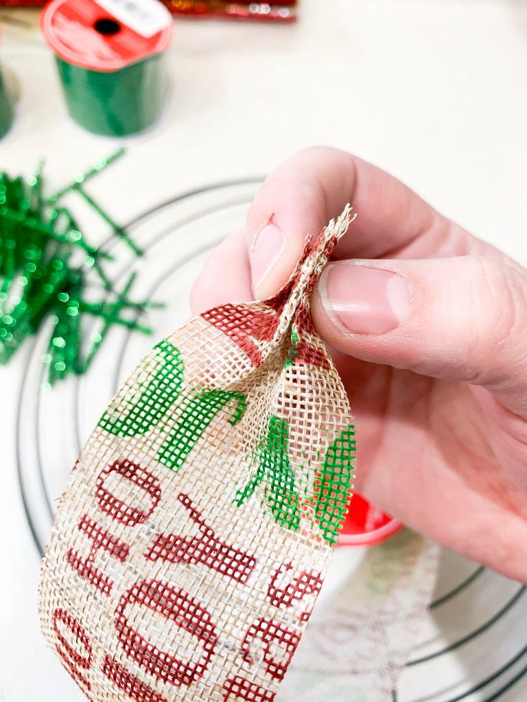Deco Mesh Wreath Tutorial craftingoverload.com Dollar Tree Wreath