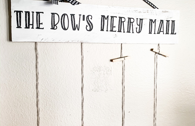 Merry Mail Christmas Sign Tutorial